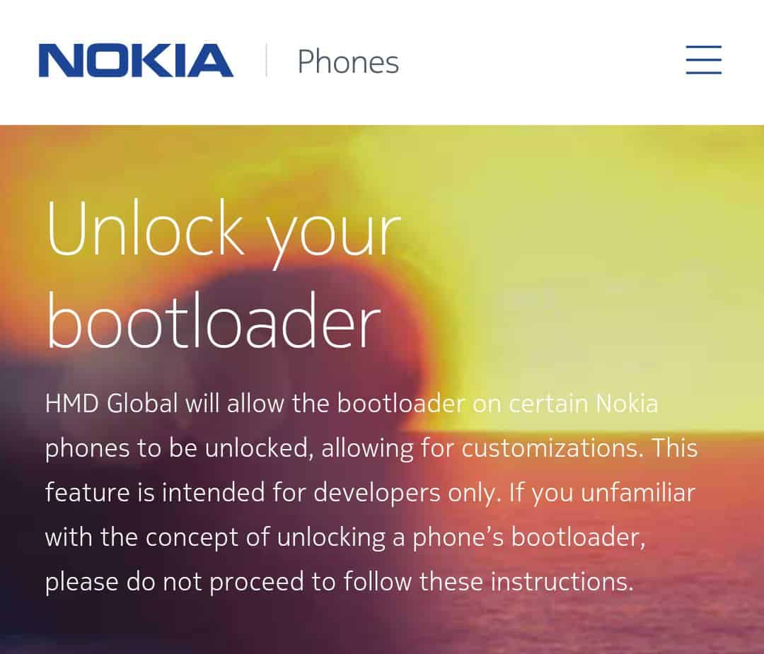 Unlock Bootloader of Nokia Phone