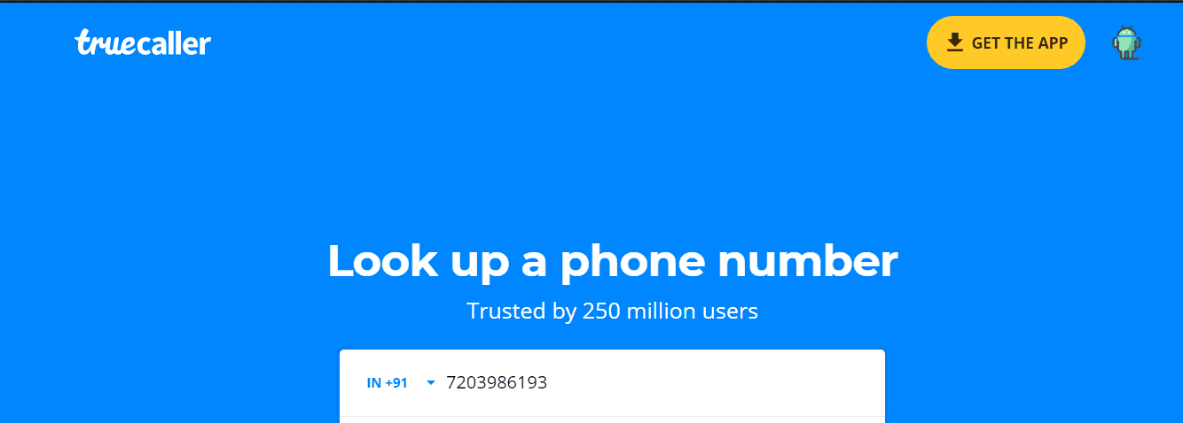 Find Details of Unknown Numbers using TrueCaller