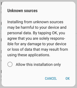 Enable Unknown Sources for GBWhatsapp