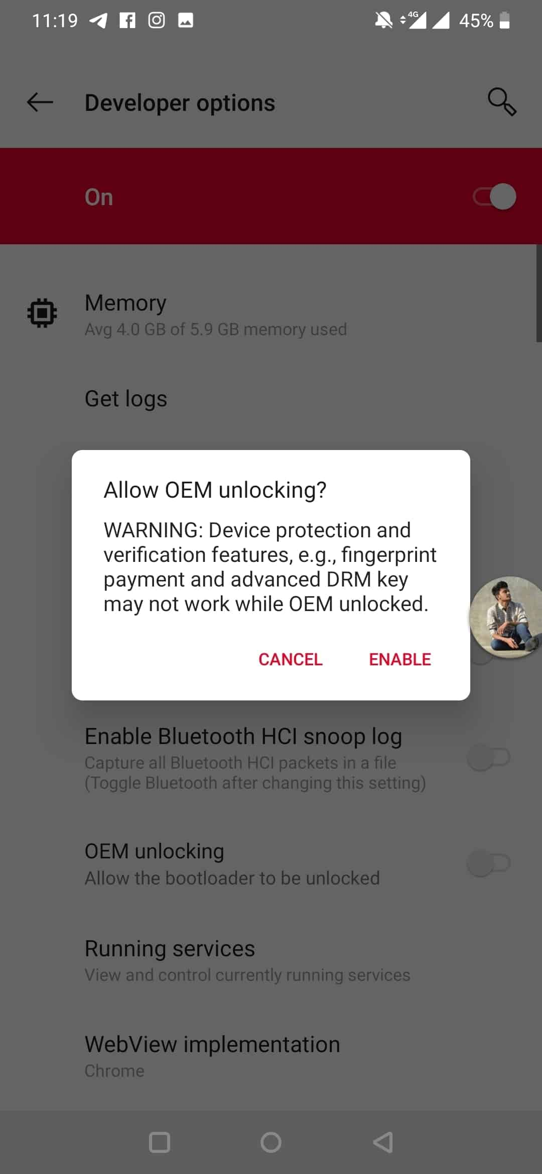 Enable OEM Unlocking on Android - 1