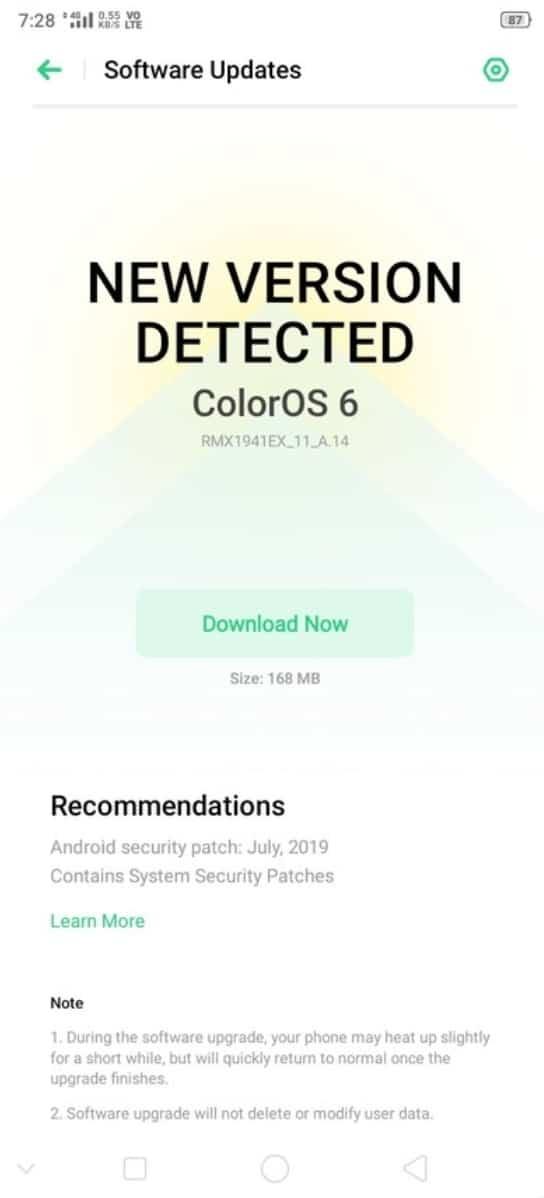 Realme C2 & U1 get July security update, lock screen magazine