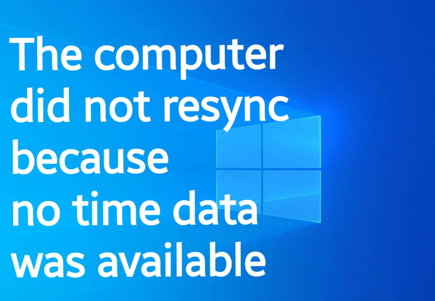 computer did resync because there was no time data available