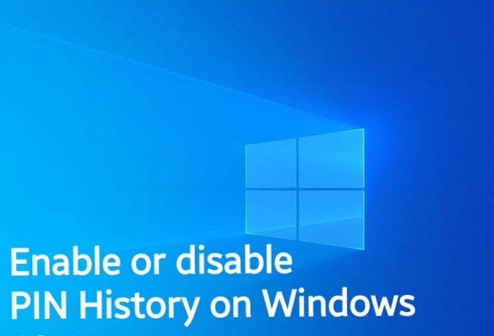 How to enable or disable PIN History on Windows 10