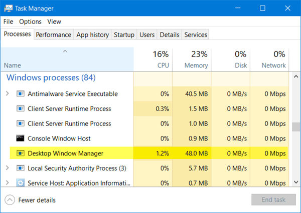 Fix: Desktop Window Manager High CPU Usage 'dwm.exe'