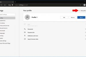 How to create multiple profiles on Edge Chromium browser?