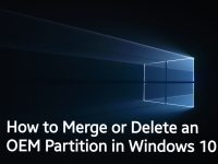 How to Merge or Delete an OEM Partition in Windows 10