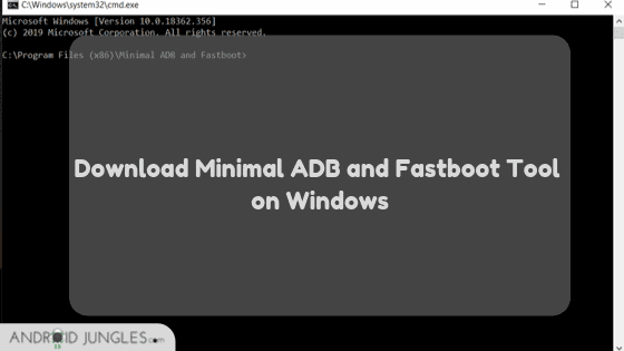 Download Minimal ADB and Fastboot Tool on Windows