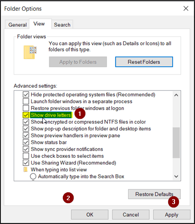 Drive letter missing in Windows File Explorer | Android Jungles