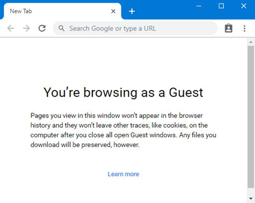 How to always Open Chrome in Guest Mode in Windows