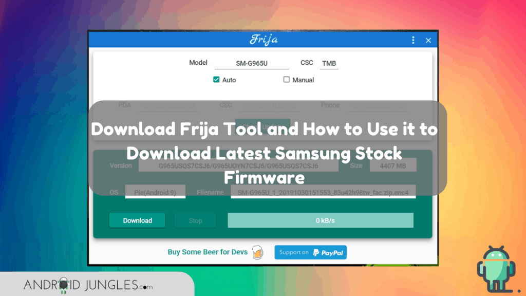 Download Frija Tool and How to Use it to Download Latest Samsung Stock Firmware