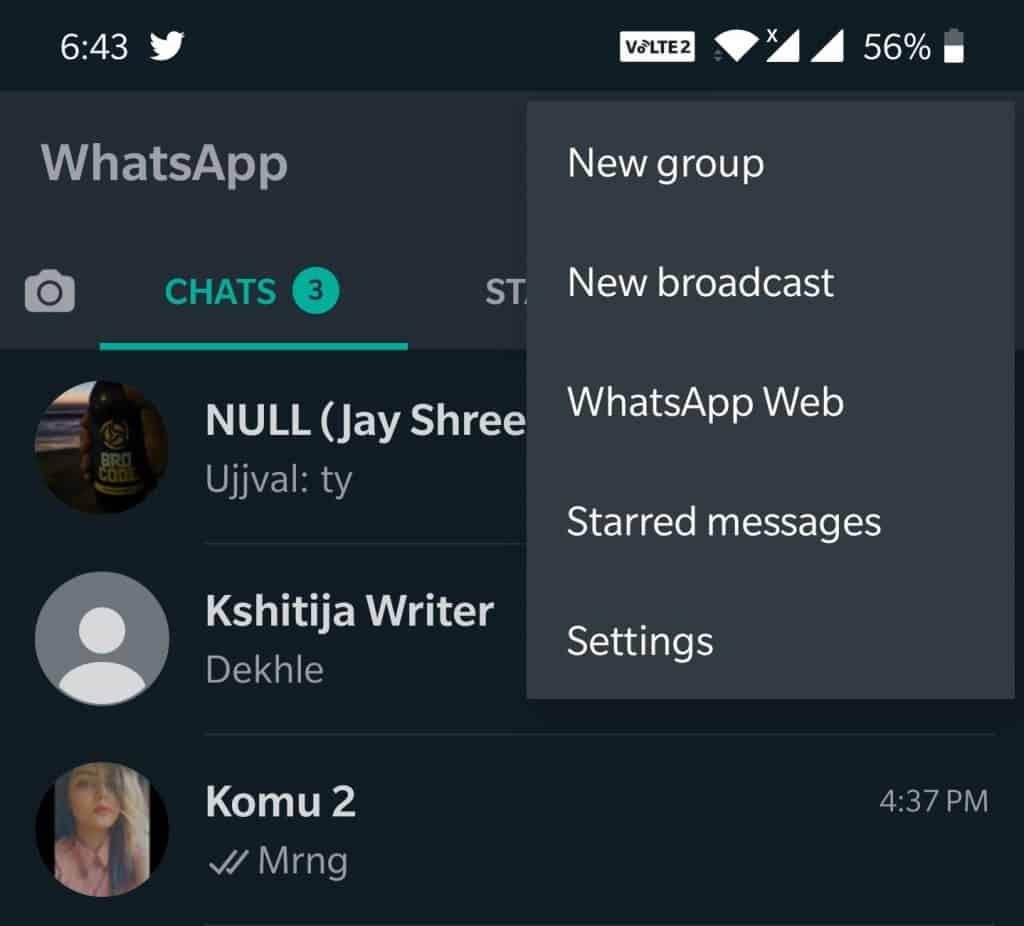 enable-Dark Mode-on-WhatsApp (No Root)