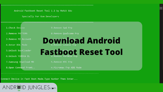 Download Android Fastboot Reset Tool