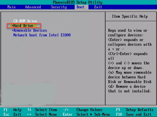 Disk-drive-on-boot-menu