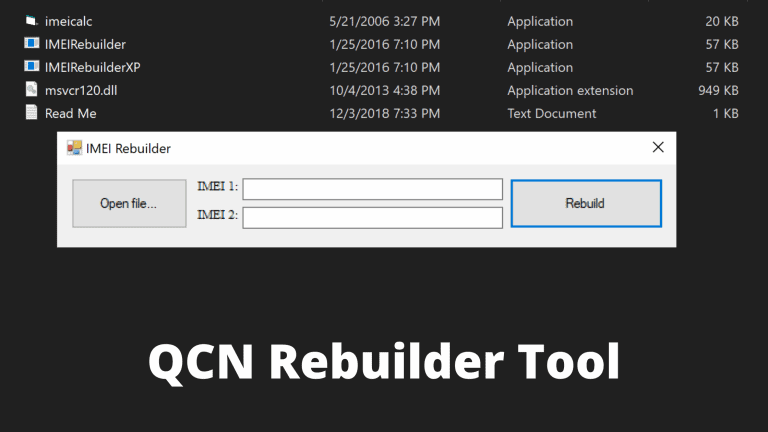 Download QCN Rebuilder Tool latest Version