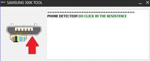 Phone Detected on Samsung 300k Tool
