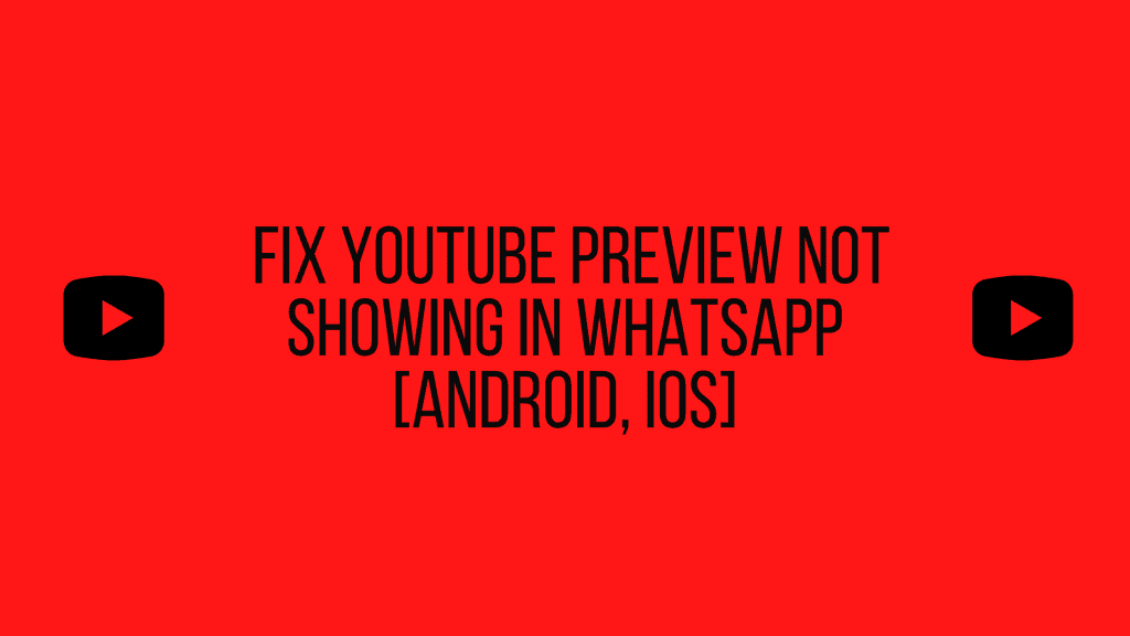 Fix YouTube preview not showing in WhatsApp