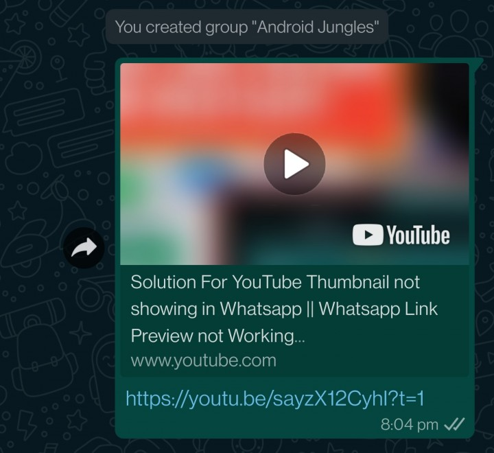 start video after one second fix youtube link preview issue in whatsapp