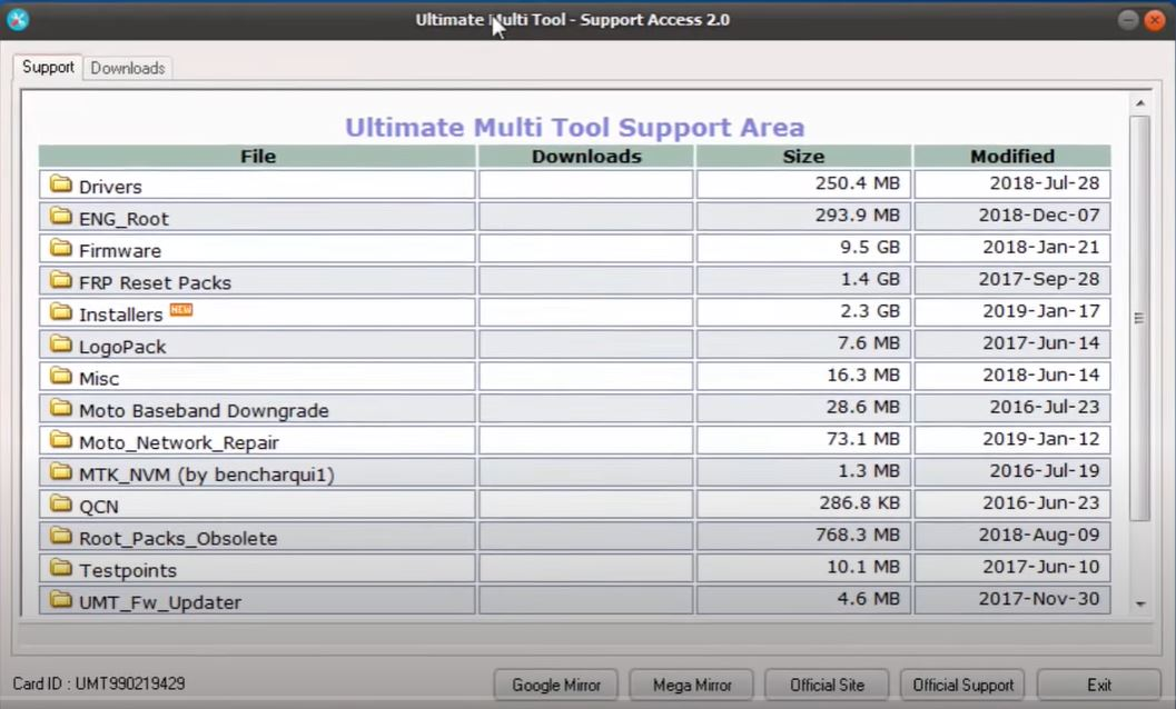 Download UMT Support Access 2.0-Official | October 2021