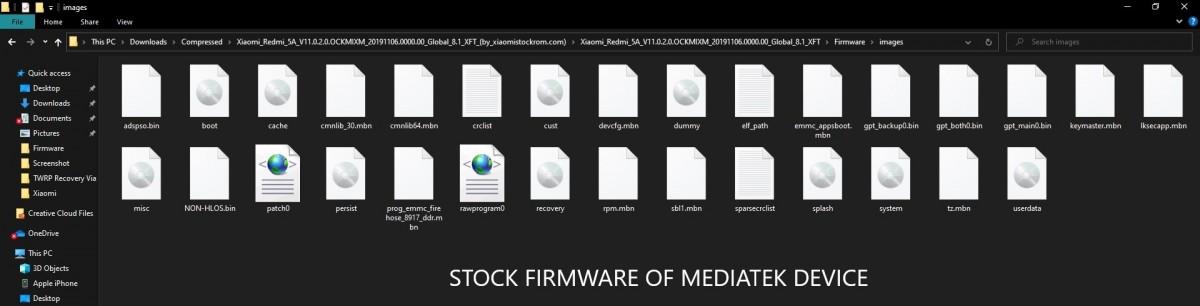 mediatek device stock firmware