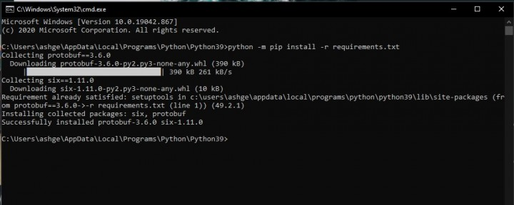 python-package-installing