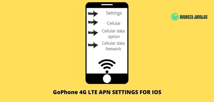 GoPhone 4G LTE APN settings for iOS