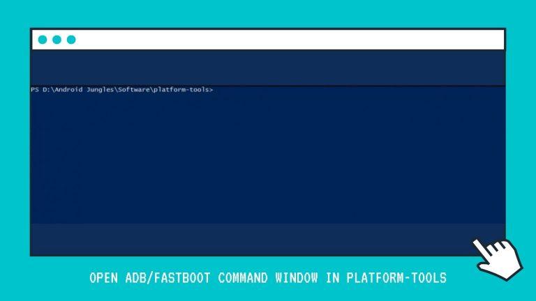 Open ADBFastboot Command Window in Platform-Tools