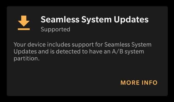 check for seamless system update