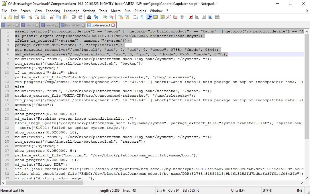 delete asserts twrp error 7