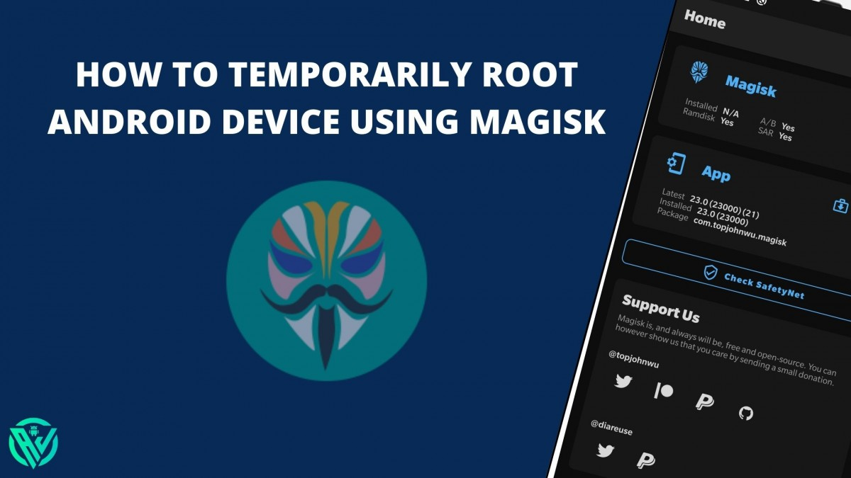 how to temporarily root android via magisk
