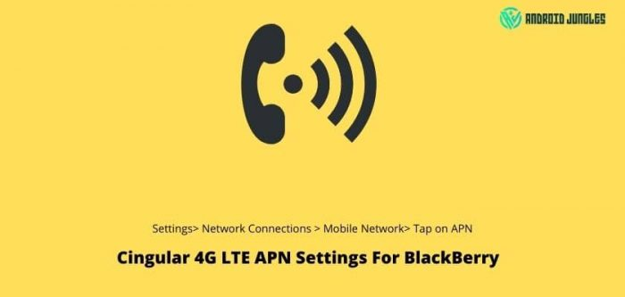 Cingular 4G LTE APN Settings For BlackBerry
