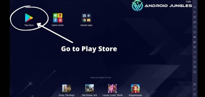 Go to Playstore on BlueStacks
