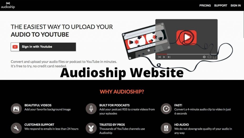 How to Upload Audio To Youtube Using Audioship? Check out The Review And Download.