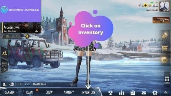 Click on Inventory