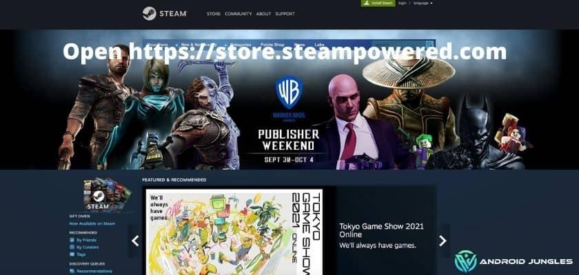 Open httpsstore.steampowered.com